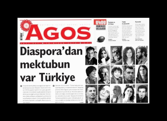 Ermeni Diasporası Agos'tan Türkiye'ye seslendi