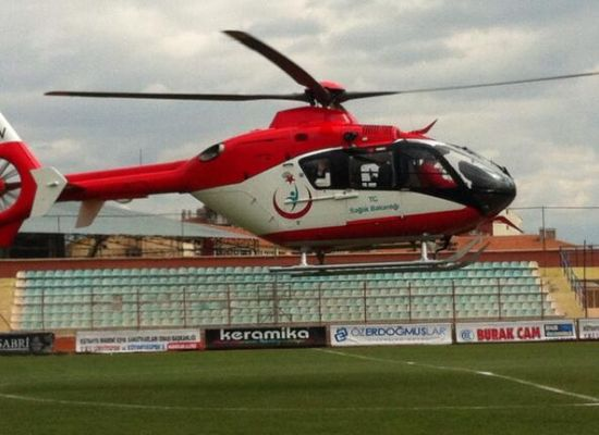 Sağlık Bakanı, ambulans helikopterle seçim çalışmasında!