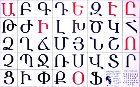 Ayp - Pen - Kim ( Ermeni alfabesinde farklı sesler) 1 Aralık