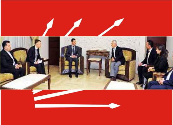 CHP heyeti Suriye'de Esad'la bir araya geldi