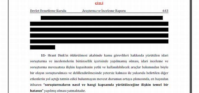 DDK raporuna devlet sırrı karartması