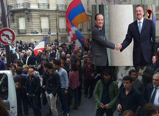 Hollande, Aliyev'den Ermenistanla güven ortamının tesisini istedi