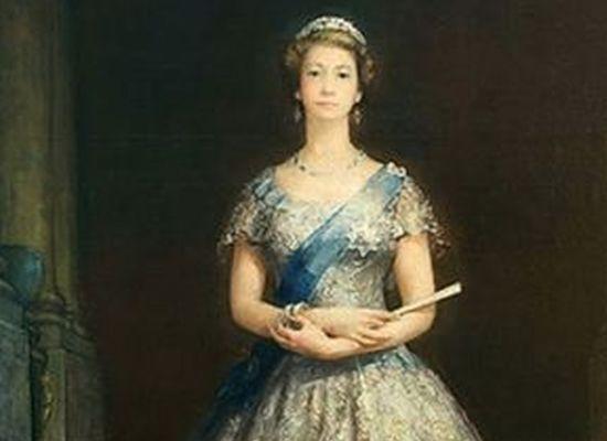 Kraliçe'nin yasaklı tablosu sergileniyor