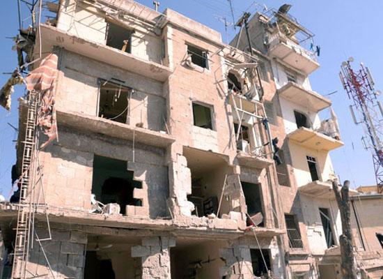 Halep'in Hıristiyan mahallesinde patlama