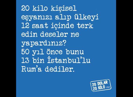 1964 Tehciri, İstanbul Rumlarının sonu oldu