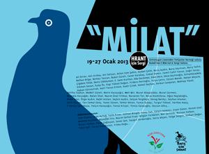 Hrant Dink için düzenlenen 'MİLAT' sergisi açıldı