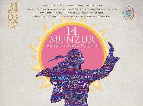 Munzur Festivali'nin programı dopdolu