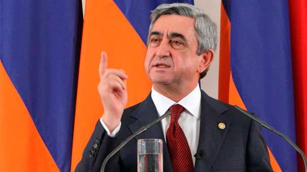 """Sarkisyan:  """"Azerbaycan büyük açmazda"""""""