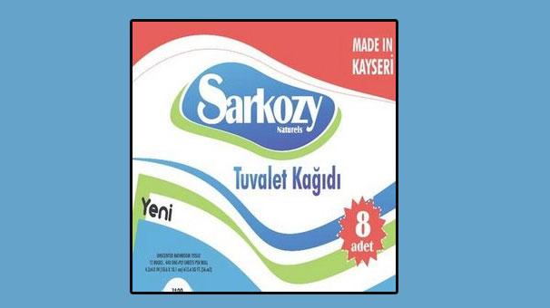 Sarkozy tuvalet kâğıdı oldu