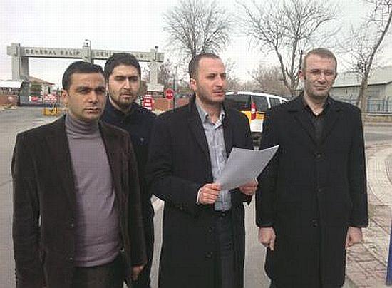 Sevag için kolordu komutanlığı önünde basın açıklaması