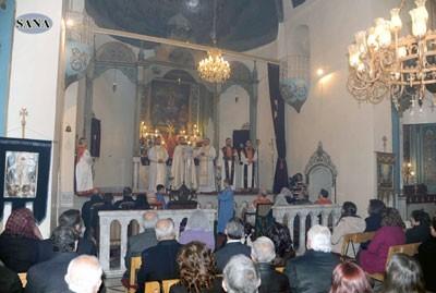 Suriyeli Ortodoks Ermeniler Noel Bayramını Kutladı