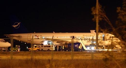 Suriye uçağı Ankara'dan ayrıldı