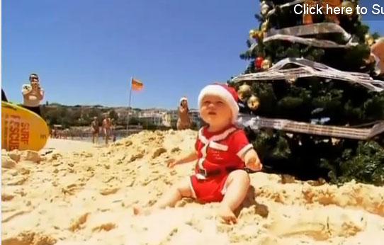 Bondi plajında Noel bir başka!
