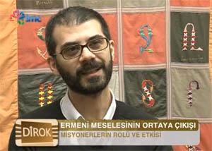 Rober Koptaş İMC TV'deki Dîrok programında 1915'i hazırlayan süreci anlattı