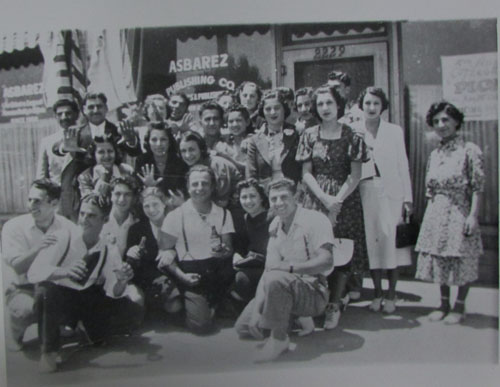 Asbarez newspaper was founded in 1908. The photo dates back to '30s.